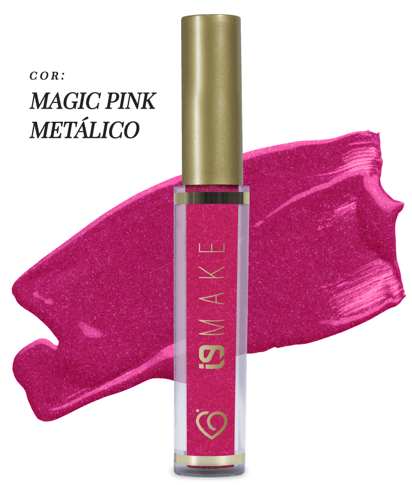 batom Líquido i9 magic pink metalico